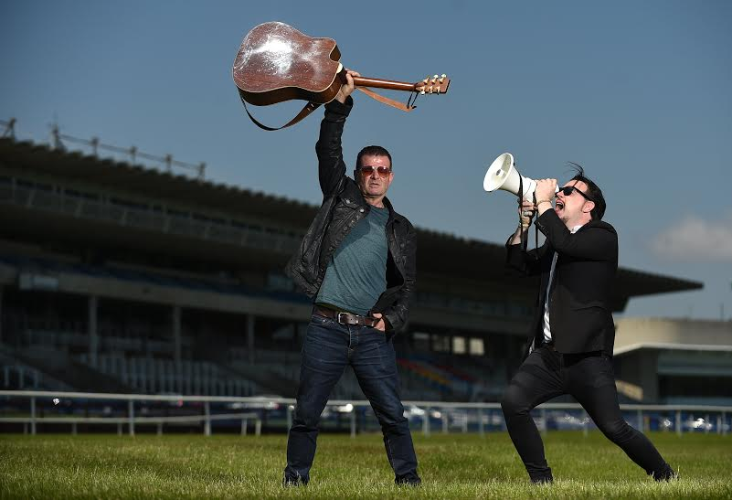 Aslan's Billy McGuinness, left, and Jack L at Leopardstown Racecourse
